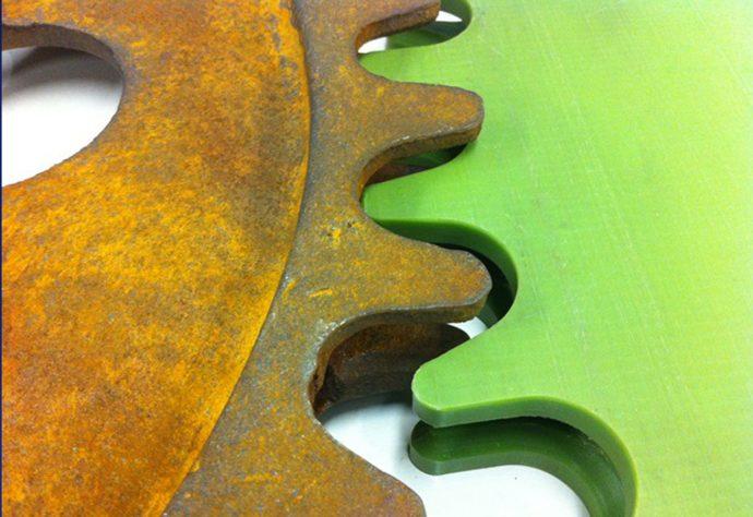 Metal vs Nylacast Polymer Image