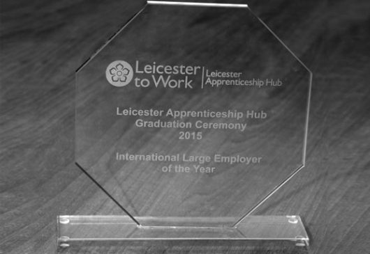 Nylacast recieve Leicester City Council award