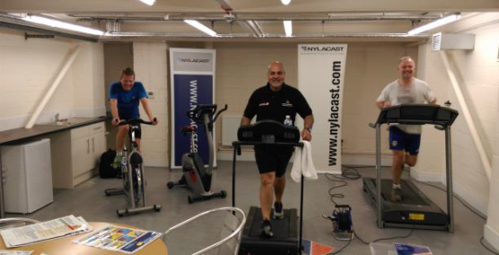 Nylacast cover 1000 miles for Leicestershire Cares
