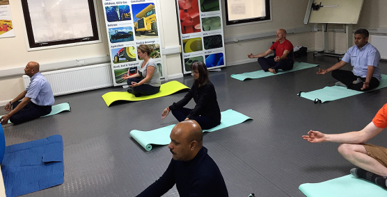 Nylacast Leicester provide free yoga classes for staff