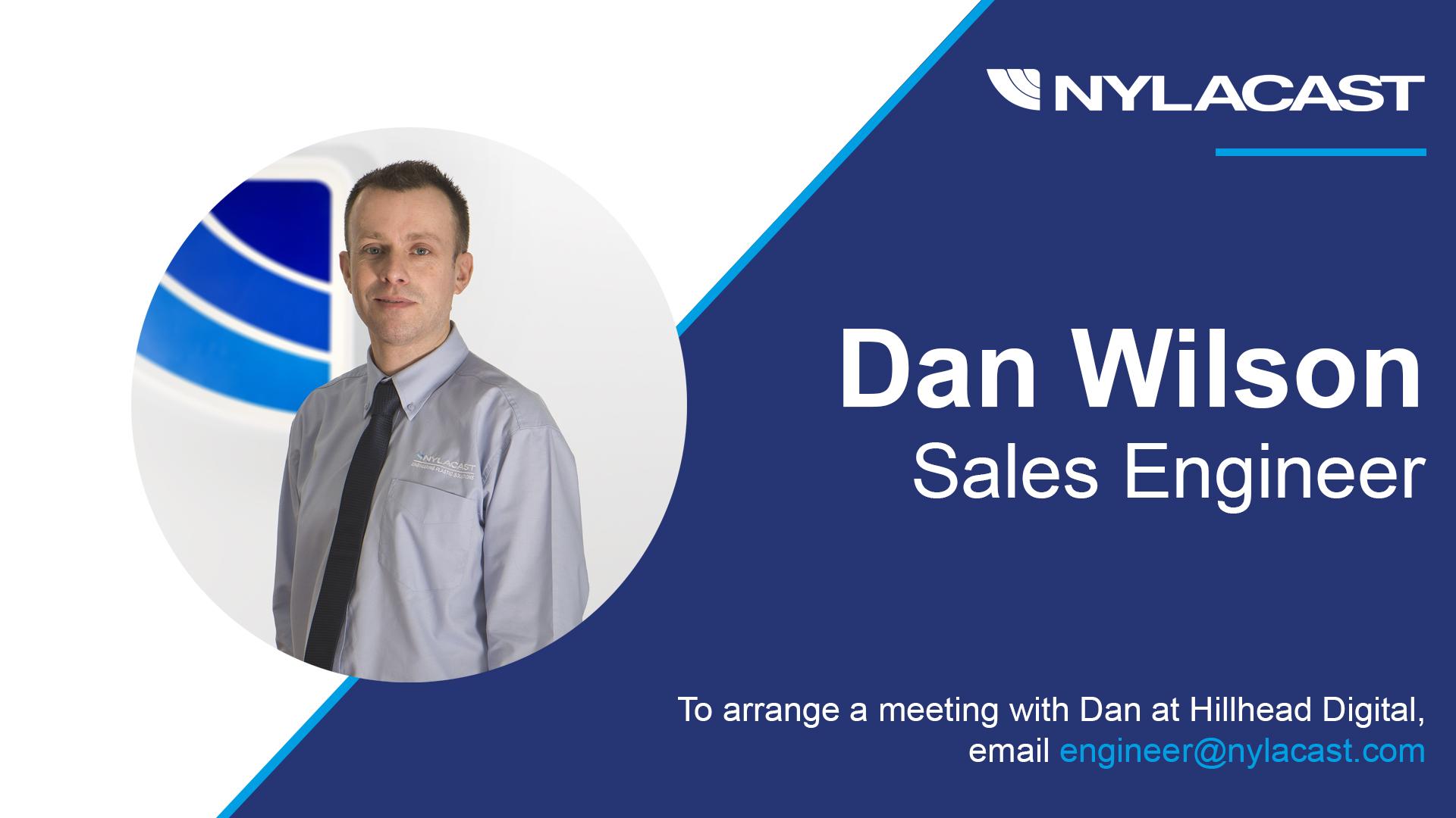 Dan Wilson at Hillhead Digital Stand For Nylacast